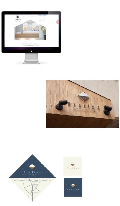 皮膚科のホームページデザイン・ファサードデザイン・美容院のショプカード